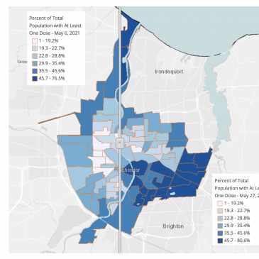 COVID-19 Vaccination Rate Increases in City of Rochester