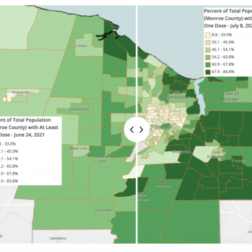 COVID-19 Vaccination Rates Increase Within Many Monroe County Census Tracts
