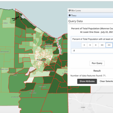 Updated COVID-19 Vaccination Rates for Monroe County and City of Rochester Census Tracts