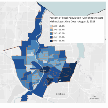 City of Rochester COVID-19 Vaccination Rates-per-Tract Show Wide Variability